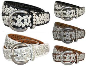 NIETENGURTEL-Damen-ECHT-Leder-XL-Vintage-Nieten-Guertel-85-90-95-Belt-H-M-174-NEU