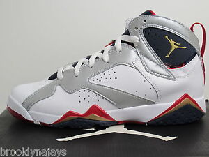 NIKE-AIR-JORDAN-OLYMPIC-7-RETRO-GS-sz-7Y-304774135-WHITE-MTLLC-GOLD-OBSON-TR-R