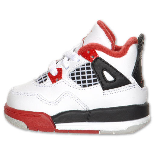 NIKE Baby Air Jordan 4 Retro Fire Red TD size 6C USA Olympic Gold