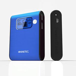 NINETEC-10-000mAh-Power-Bank-Mobiler-Akku-Ladegeraet-fuer-Smartphones-Tablets-blau