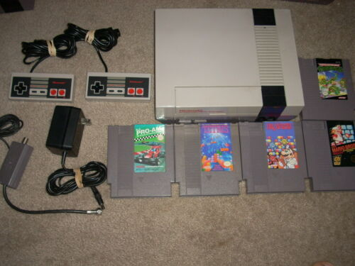 ---NINTENDO NES SYSTEM W/5 GAMES & NEW 72 PIN, FREE US SHIPPING!! in Video Games & Consoles, Video Game Consoles | eBay