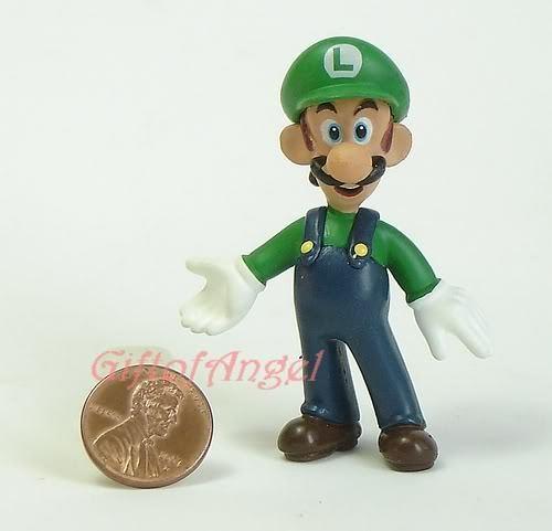 Nintendo Super Mario Bros 4 Vinyl Figure Model Luigi R4