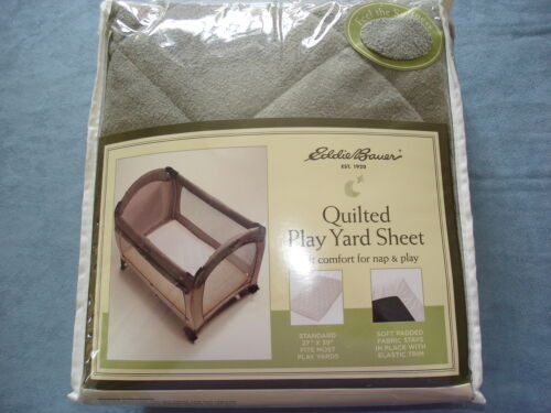 NIP EDDIE BAUER QUILTED PLAY YARD PLAY PEN SHEET - SAGE GREEN in Baby, Baby Gear, Play Pens & Play Yards | eBay