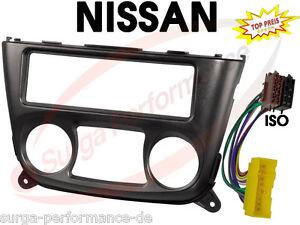 NISSAN-Almera-N16-Radio-Blende-Rahmen-ISO-Adapter-Kabel-NEU