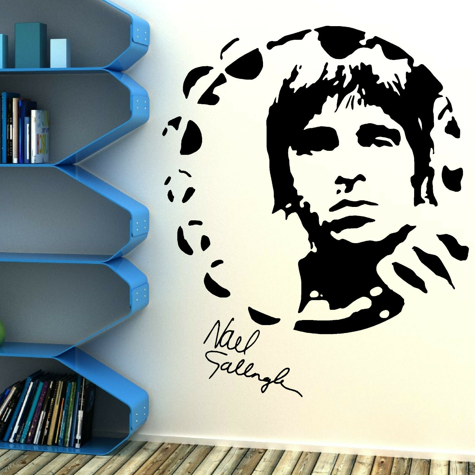 noel gallagher oasis portrait vinyl wall art sticker mural decal music themed ebay. Black Bedroom Furniture Sets. Home Design Ideas