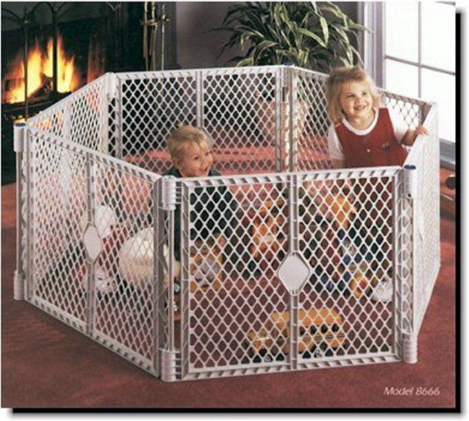 North States Superyard XT Baby Pet Gate Play Yard