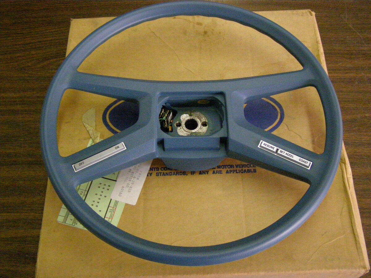 1981 1982 Ford Escort Steering Wheel Blue