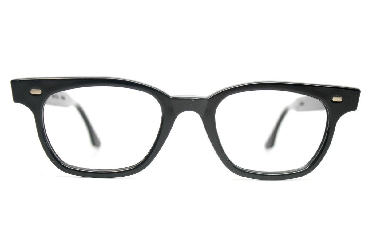 edae999bac0 mens vintage 1950s Black Horn rimmed eye glasses vintage .