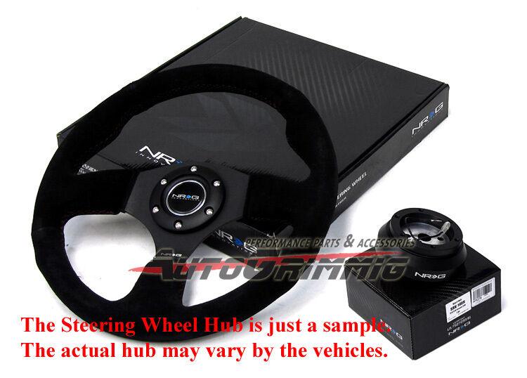 NRG Race Style Steering Wheel 320mm Hub Adapter for Mitsubishi Lancer EVO 8 9