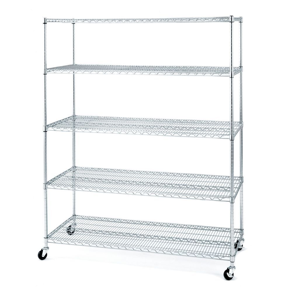 rolling commercial garage metal storage wire shelving