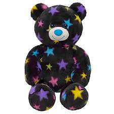 NWT BABW Build-A-Bear COLORFUL STARS BEAR!! Unstuffed! 16 inch. Black. Plush. in Dolls & Bears, Bears, Build a Bear | eBay