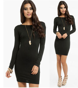 Long Sleeve Mini Dress on Jersey Soft Stretch Long Sleeve Scoop Neck Mini Dress Tunic   Ebay