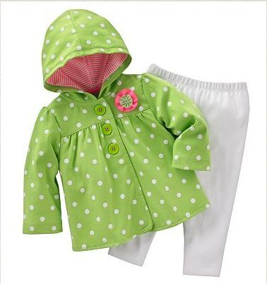 7193ae91b91d NWT Carters Baby Girl Clothes 2 Piece Outfit Green White 3 6 9 12 18 ...