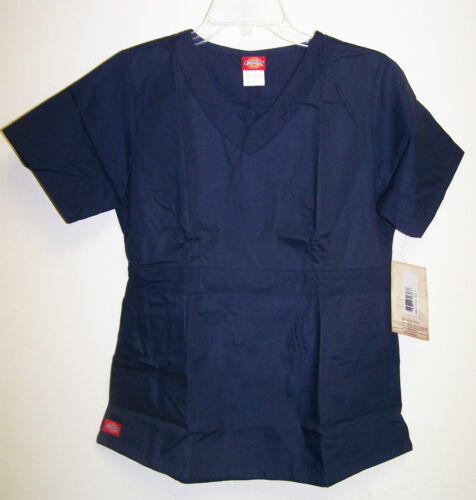 NWT Dickies Medical Uniforms NAVY BLUE Brushed Fabric Scrub Top XS-XL 12144 in Clothing, Shoes & Accessories, Uniforms & Work Clothing, Scrubs | eBay