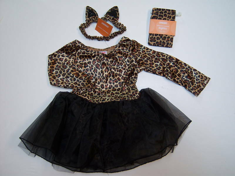 aa354cb3b99e NWT Gymboree Kitty Leopard Costume Tights & Ears 6 12 M on PopScreen