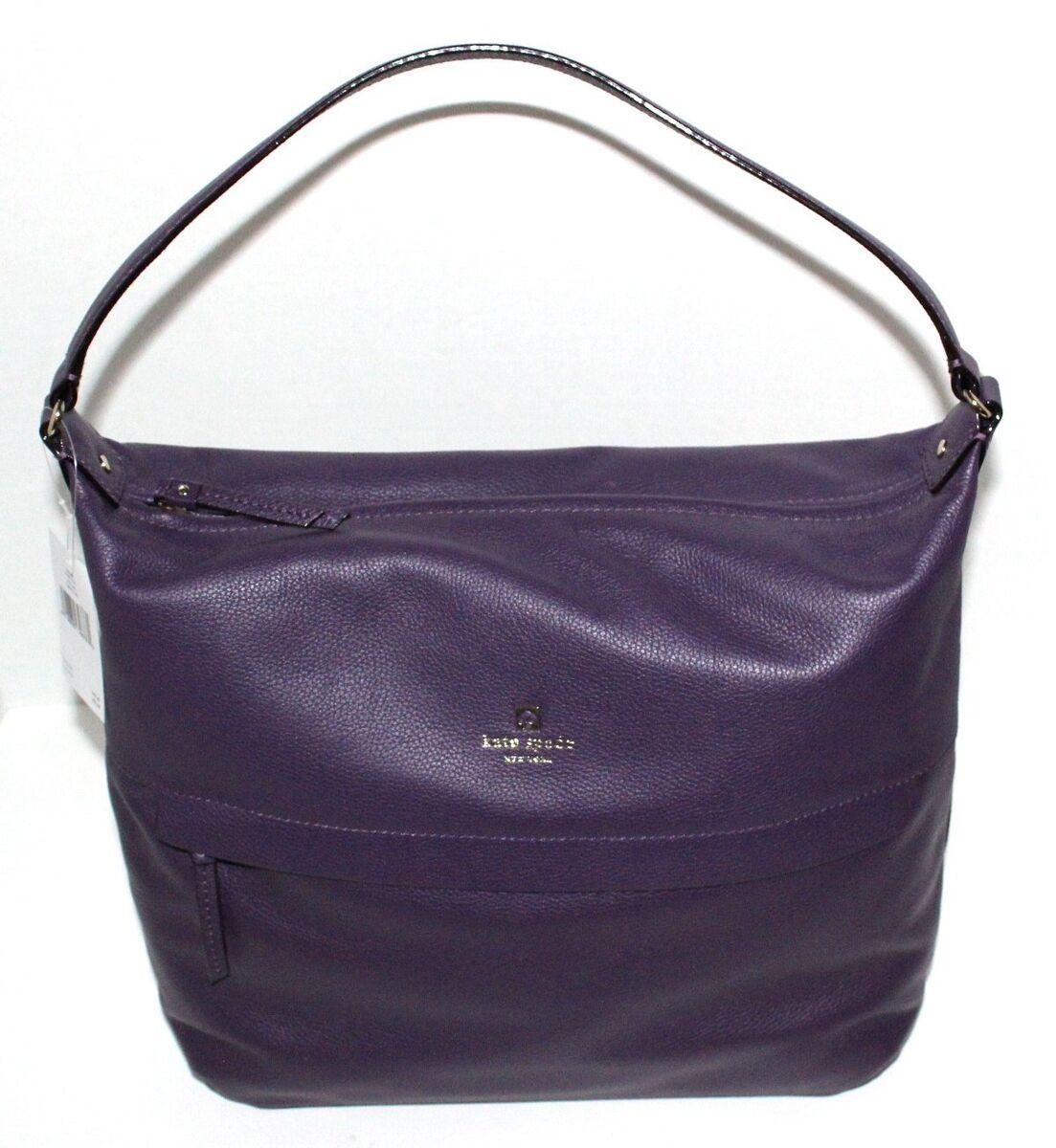 NWT Kate Spade Grant Park Manuela Handbag. Eggplant Leather. WKRU1635