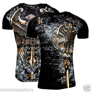 mens templar black graphic designer tshirt mma tee ufc tattoo muscle s 2xl ebay. Black Bedroom Furniture Sets. Home Design Ideas