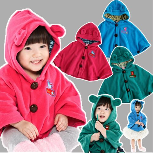 "NWT Newborn Baby Toddler Girl Fleece Hoodie Cape Coat For Winter ""3 Color Cape"" in Clothing, Shoes & Accessories, Baby & Toddler Clothing, Girls' Clothing (Newborn-5T) 