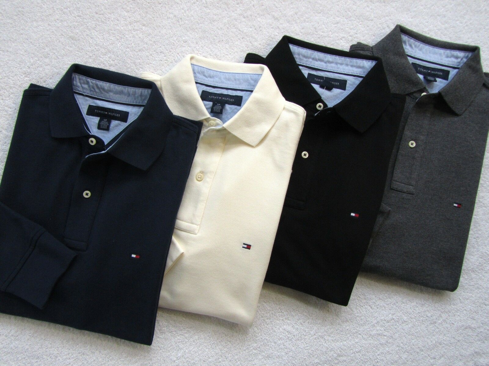 NWT Tommy Hilfiger Mens Long Sleeve Classic Knit Polo