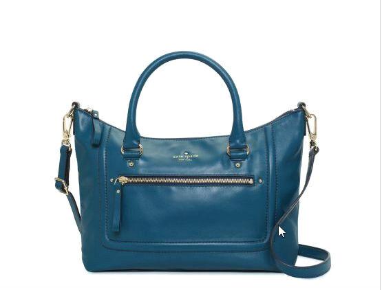Kate Spade Mott Street Small Riley Leather Shoulder Bag Deep Sea $345