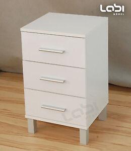 nachtkonsole nacht tisch kommode schrank n3 in hochglanz. Black Bedroom Furniture Sets. Home Design Ideas
