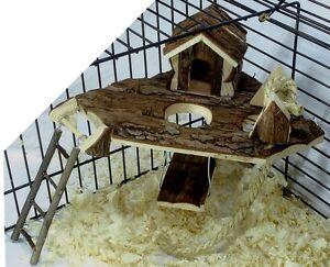 nagerspielplatz 2 f r hamster m use schaukel haus leiter ebay. Black Bedroom Furniture Sets. Home Design Ideas