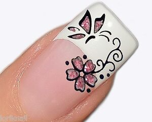 nailart glitter aufkleber sticker f r fingern gel 4156. Black Bedroom Furniture Sets. Home Design Ideas