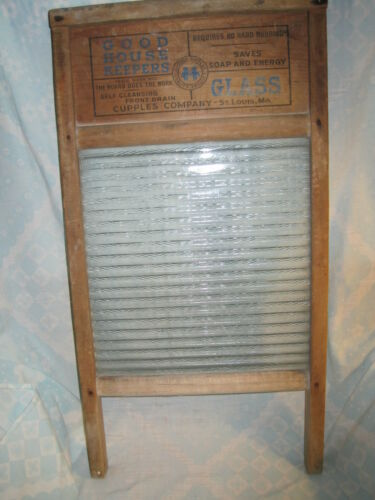 National Good House Keepers Glass/Wood Washboard Cupples Co.St.Louis, MO in Antiques, Home & Hearth, Other | eBay