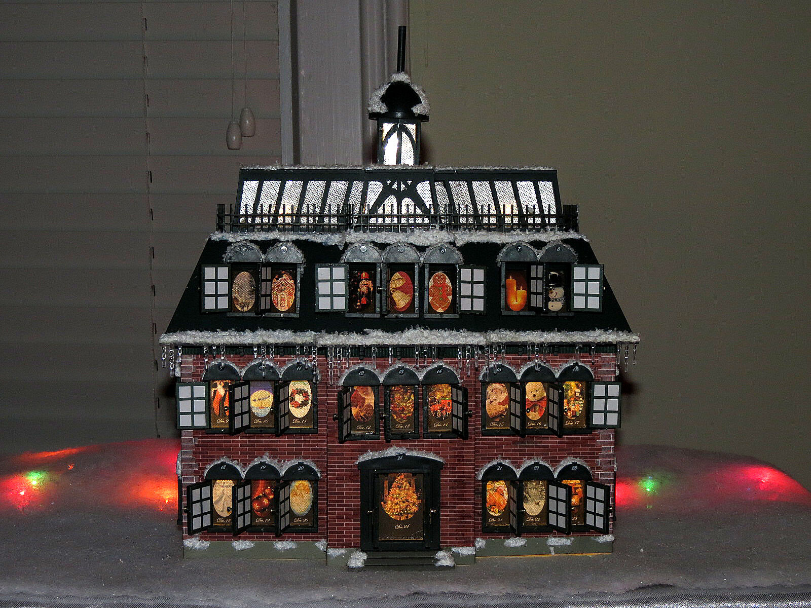 advent house calendar is a miniature version of the original advent ...