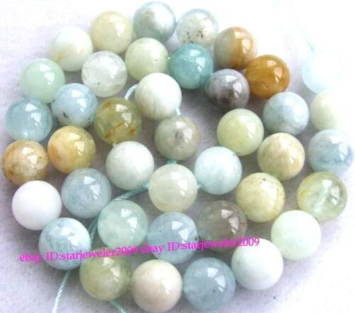Natural Aquamarine Round Gemstone Beads 15.5'' 4mm 6mm 8mm 10mm 12mm 14mm 16mm in Jewelry & Watches, Loose Beads, Stone | eBay