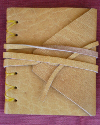 Natural Buffalo Leather Hemp Rice Paper Miniature Blank Journal from Nepal in Books, Accessories, Blank Diaries & Journals | eBay