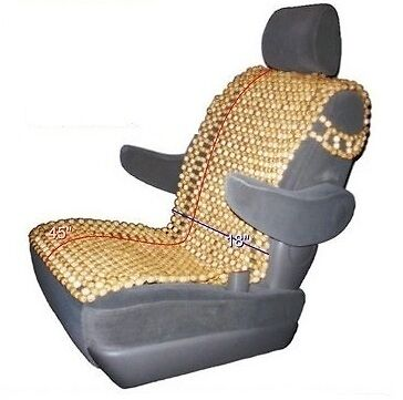 Natural Wood Bead Seat Cover Massage Cool Cushion For Car