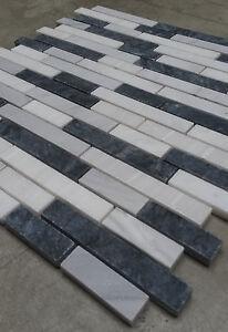 naturstein matte fliesen 30x30 cm 8 mm carrara mosaik grau creme mix marmor neu ebay. Black Bedroom Furniture Sets. Home Design Ideas
