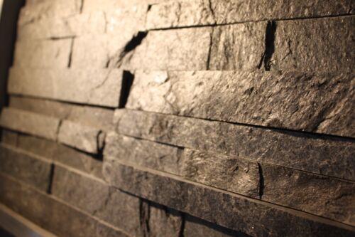 1 Muster Natursteinwand Riemchen Schiefer Wandverkleidung Fliesen 29€//m²