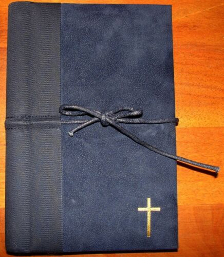 "Navy/Black Deluxe Journal with Scripture * Antioch 8.5 x 6"" 160 ruled pages NEW in Books, Accessories, Blank Diaries & Journals 