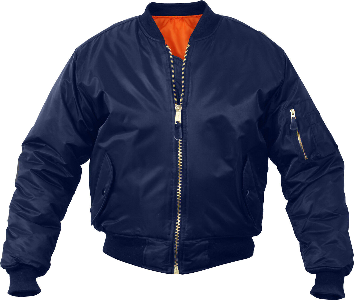 Navy Blue Military Air Force MA-1 Reversible Bomber Coat Flight