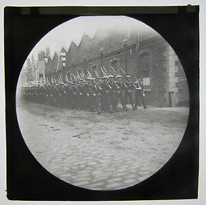 Navy-Sailors-Marching-Boer-War-Era-Antique-Magic-Lantern-Military-Glass-Slide