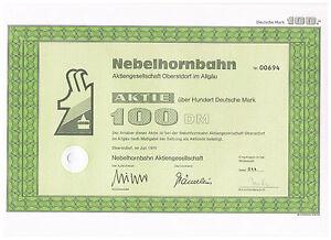 Nebelhornbahn-AG-Oberstdorf-Inhaber-Aktie-ueber-100-DM-von-1975