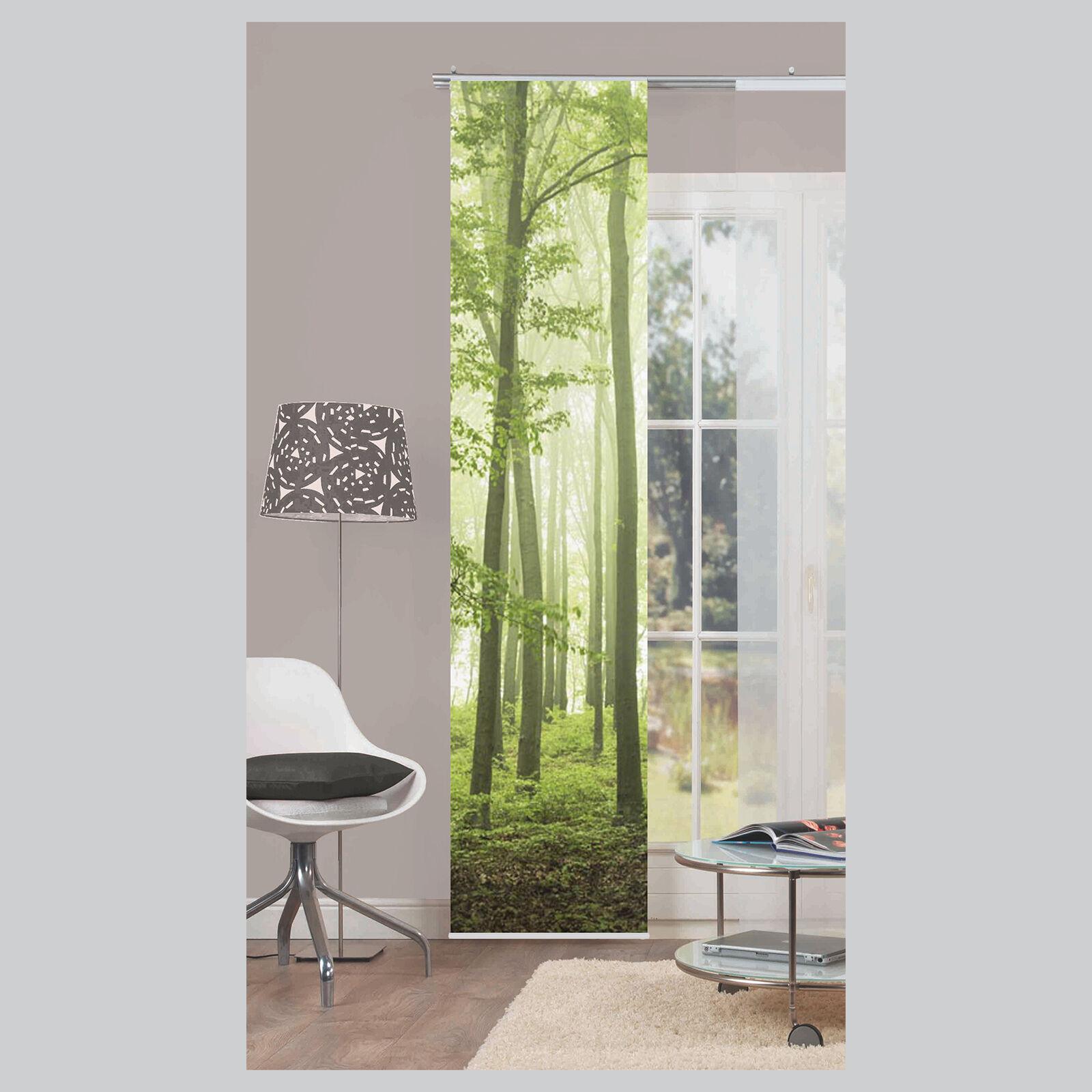 aaa nebelwald b ume schiebevorhang schiebegardine raumteiler home wohnideen ebay. Black Bedroom Furniture Sets. Home Design Ideas