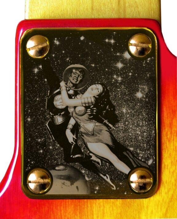 Neck Plate Gold 4 Fender Strat Tele Guitar Escape Mars