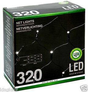 Netzbeleuchtung-320-LED-Lichterkette-Kalt-Weisse-Weihnachts-Aussen-Beleuchtung