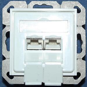 netzwerk dose lsa lan 2 fach rj 45 500 mhz 10 gb gira zwischen rahmen ebay. Black Bedroom Furniture Sets. Home Design Ideas
