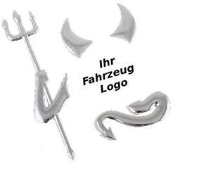 neu auto aufkleber 3d chrom teufel devil emblem vw bmw. Black Bedroom Furniture Sets. Home Design Ideas