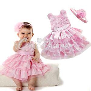neu baby m dchen kleid festlich hochzeit taufe festkleid. Black Bedroom Furniture Sets. Home Design Ideas