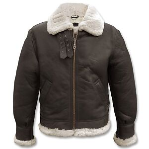 neu herren lederjacke mit fell gef ttert braun gr e l 52 54 warme winterjacke ebay. Black Bedroom Furniture Sets. Home Design Ideas