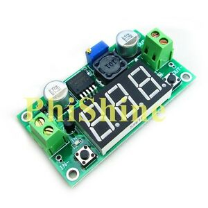 Neu-LM2596-Step-Down-Regler-Einstellbar-DC-DC-Spannungsregler-rmit-LED-Voltmeter