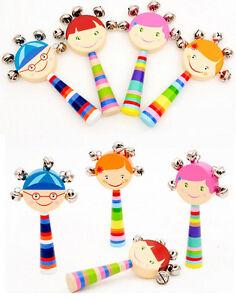 Neu-Laechelndes-Gesicht-Holz-Rasseln-Kinder-Saeuglingshandglocke-Lernspielzeug-Hot