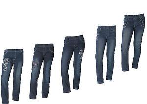 Neu-Maedchen-Jeans-Hosen-3-oder-5-gr-98-110-122-128-134-152-Gummizug-Strech