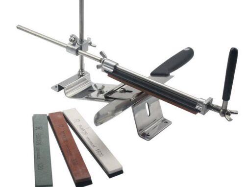 Neu-Messerschleifer-Messerschaerfer-Eisen-Material-mit-4-Schleifstein