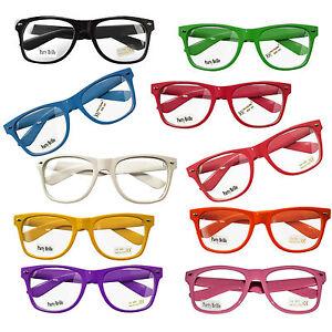 Neu-Nerd-Brille-Wayfarer-Clear-Streber-Hornbrille-Atzenbrille-ohne-Staerke